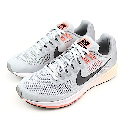 NIKE-STRUCTURE 21女跑步鞋-灰橘