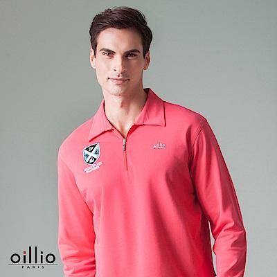 歐洲貴族 oillio 長袖POLO 右胸刺繡 素面款式 紅色