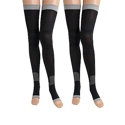 SNUG 越睡越美麗 睡眠美腿襪(黑色)<b>2</b>入組