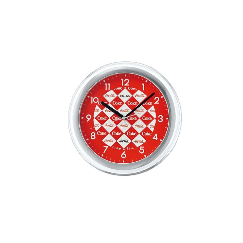 SEIKO 日本精工 可口可樂聯名款 掛鐘 時鐘(QXA933W)28cm