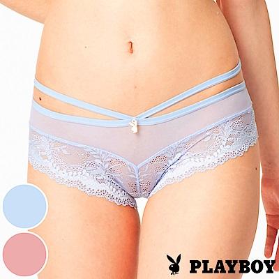 PLAYBOY內褲 法式花蕾絲平口褲-2入組(PL222807)