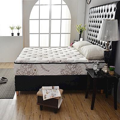 A家-男性/夫妻專用-超涼感抗菌-護邊硬式獨立筒床墊-雙人加大6尺-護腰床