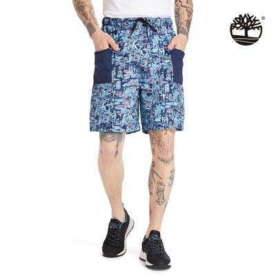 Timberland 男款藍色點狀印花短褲|A2DUE