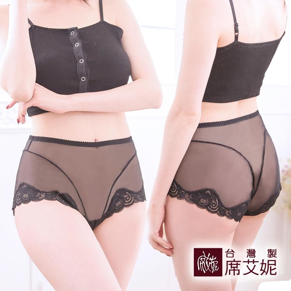 席艾妮SHIANEY 台灣製造(5件組) 性感網紗蕾絲內褲 中大尺碼高腰內著