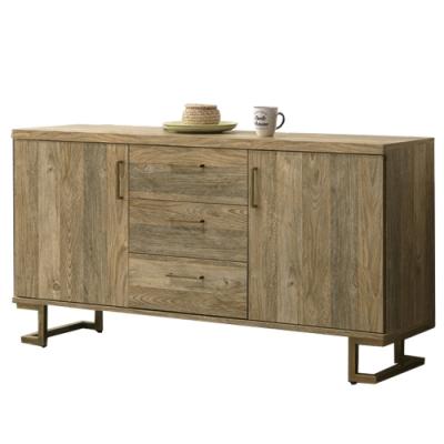 【AT HOME】美式工業5尺鐵藝餐櫃/碗盤櫃/收納櫃(下座/希爾頓)