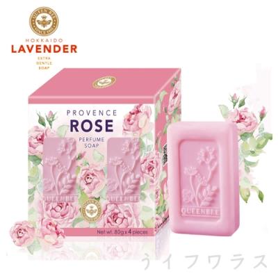 普羅旺斯玫瑰精油香氛皂80gx4入盒×6組