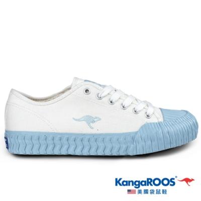 KangaROOS 美國袋鼠鞋 女 CRUST 甜點餅乾鞋(白/水藍-KW01559)