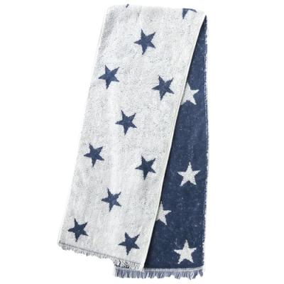 日本丸真 Eco de COOL 涼感運動毛巾 星星藍