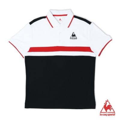法國公雞牌短袖POLO衫 LOM2114699-男-黑