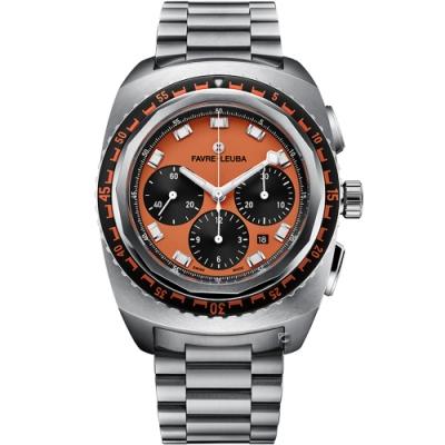 Favre-Leuba域峰表RAIDER系列SEA SKY腕錶-橘/44mm