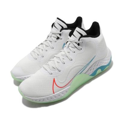 Nike 籃球鞋 Renew Elevate 運動 男女鞋 輕量 避震 包覆 支撐 球鞋 情侶穿搭 白 綠 CK2669100