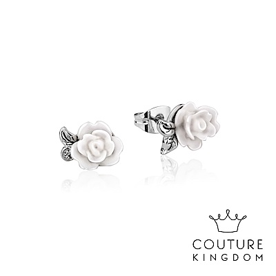 Disney Jewellery by Couture Kingdom 永生玫瑰花白金耳釘