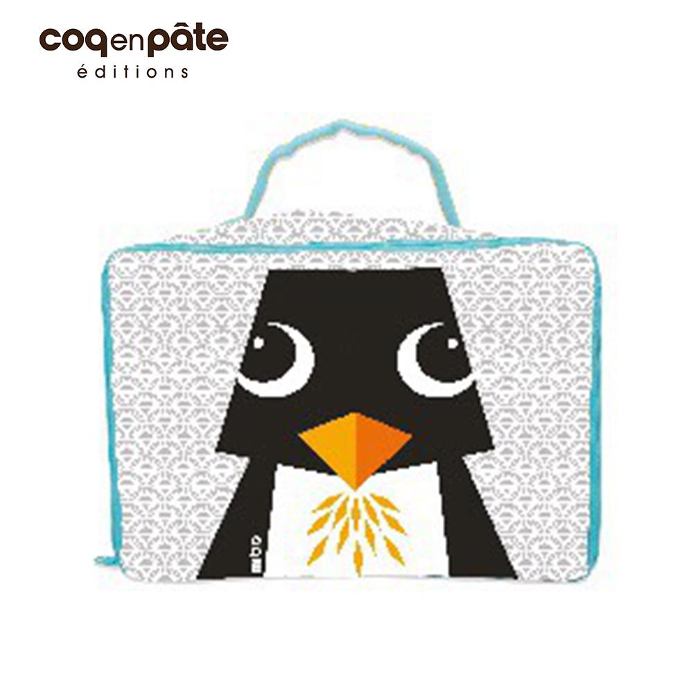 【COQENPATE】法國有機棉布包-方方兒拎出門- 企鵝