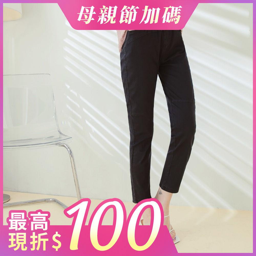 高含棉輕薄彈力修身鬆緊腰修身窄管褲-OB嚴選