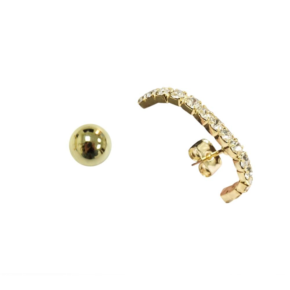 Prisme 美國時尚飾品 璀璨氣息 金色耳環