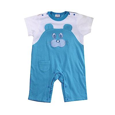 小熊短袖連身衣 k51093 魔法Baby