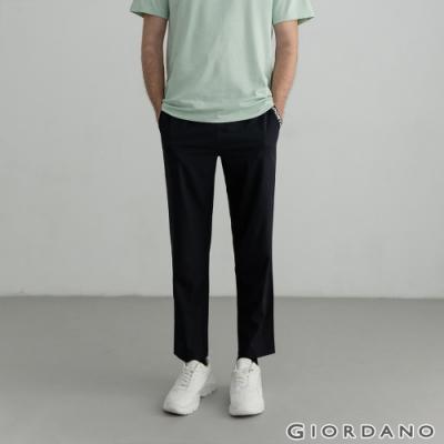 GIORDANO 男裝3M抽繩運動休閒長褲 - 09 標誌黑