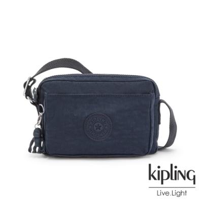 Kipling 都市沉穩藍前後加寬收納側背包-ABANU