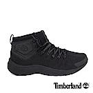 Timberland 男款FlyRoam Trail黑色皮革中筒布面靴