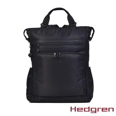 Hedgren INNER CITY輕量雙側袋 15.6吋電腦後背包 墨黑