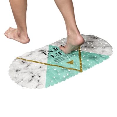 樂嫚妮 浴室吸盤防滑墊/地墊/腳踏墊/浴墊-35x69cm-大理石紋