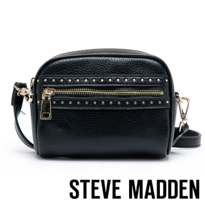 STEVE MADDEN-BPARTY經典荔枝紋半圓包-黑色