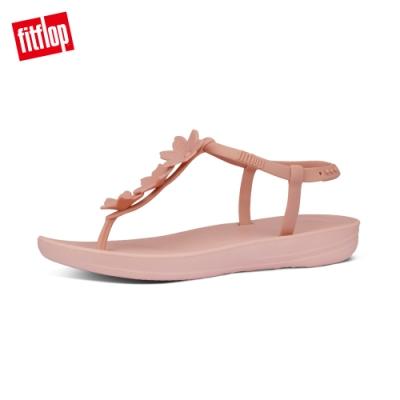 FitFlop IQUSHION SPLASH-FLOWER BACK-STRAP SANDALS 花飾輕量人體工學戲水後帶涼鞋-女(灰粉)