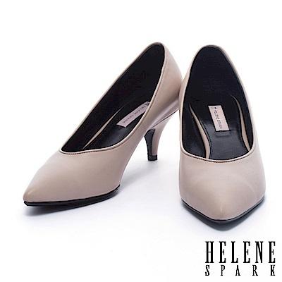 高跟鞋 HELENE SPARK 經典素雅牛皮尖頭高跟鞋-杏