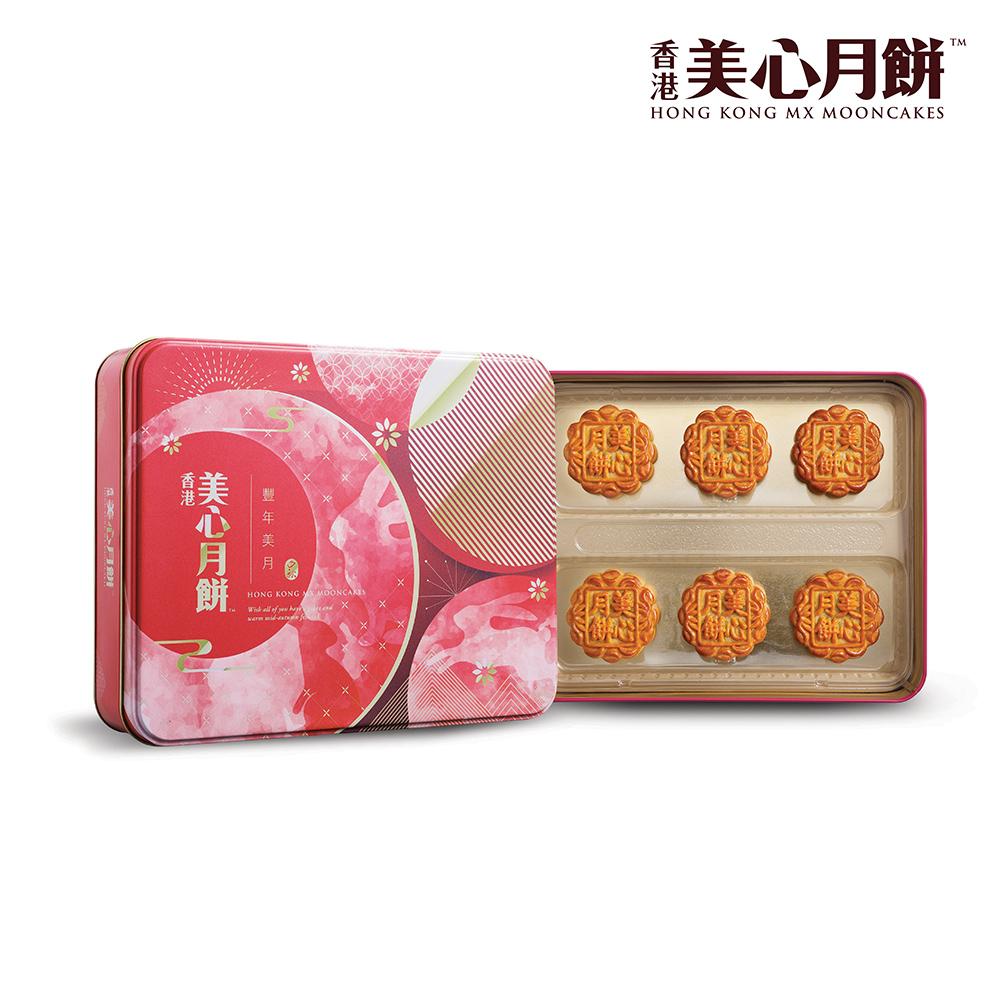 美心 豐年美月月餅禮盒(70gx6入)(效期:2019/10/8)