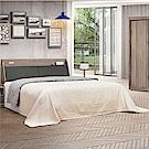 綠活居 馬布斯5尺雙人床組(床頭箱+床底+不含床墊)-151.5x212.5x95cm免組