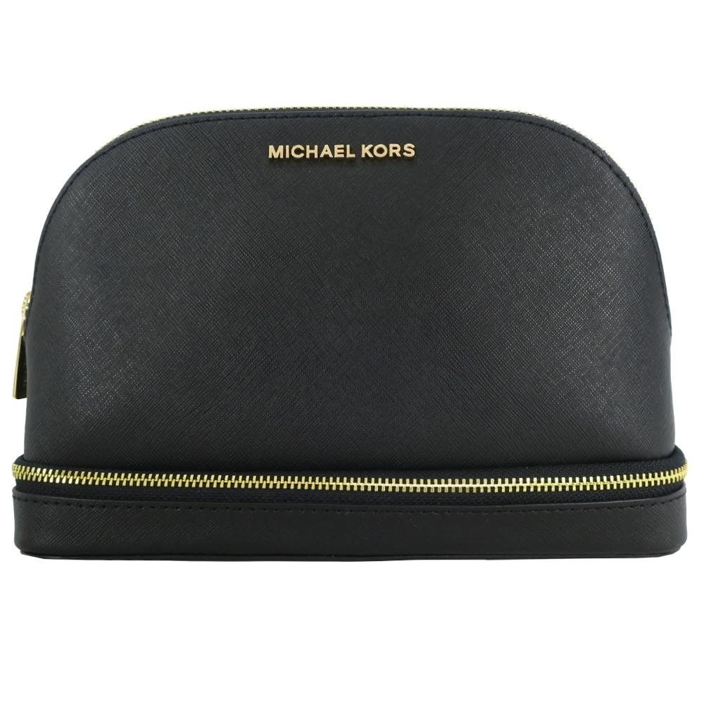 MICHAEL KORS GIFTABLES 素面防刮化妝包旅行組(大/黑)