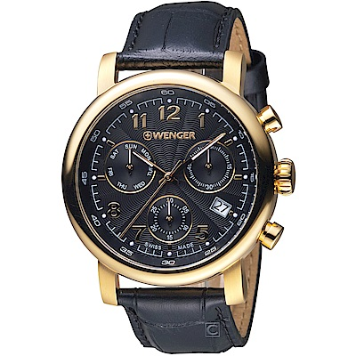 WENGER 都會系列雅痞時尚計時腕錶(01.1043.107)44mm