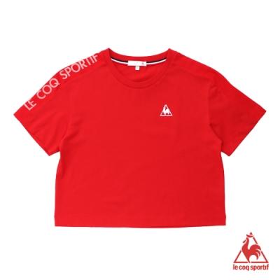 法國公雞牌寬鬆短版T恤 LOM2210176-女-紅