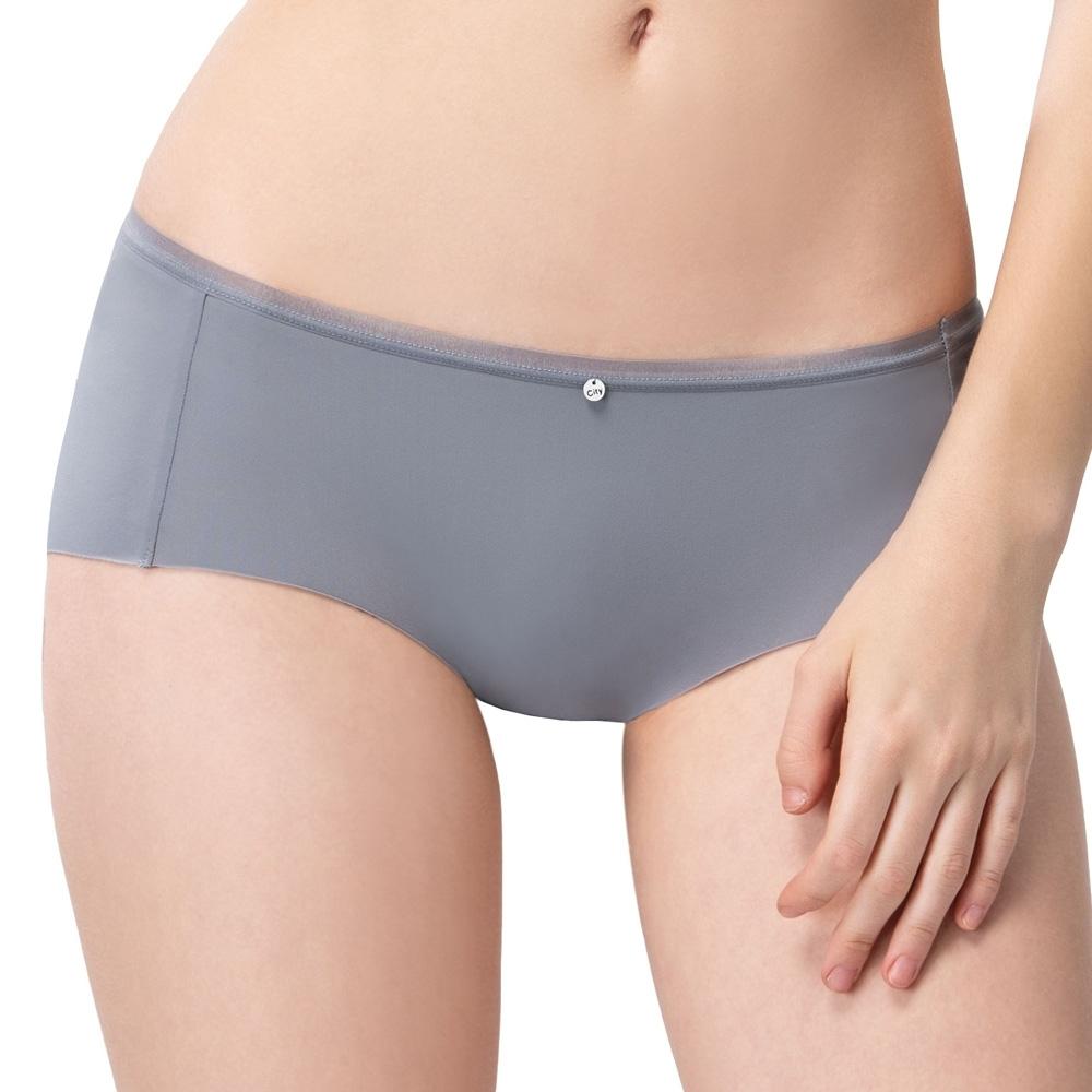 思薇爾 嗨Q Bra系列M-XL素面無痕低腰平口內褲(永恆灰)
