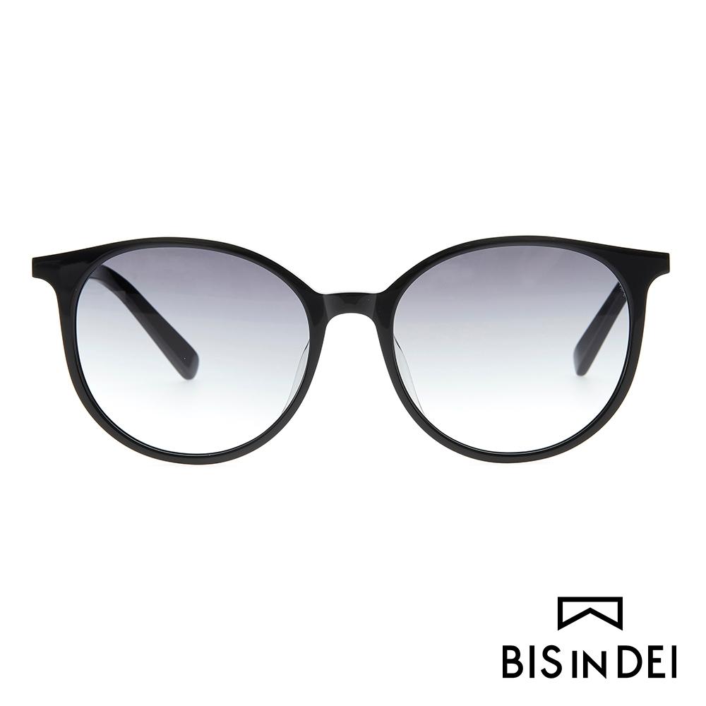 BIS IN DEI 秀氣簡約圓框太陽眼鏡-黑