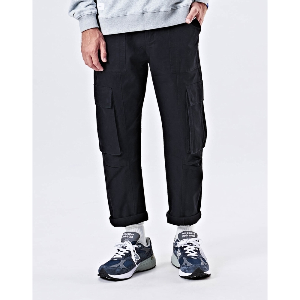 NAVY-貼袋錐形工作褲-情侶款(兩色)-男【UNA026】
