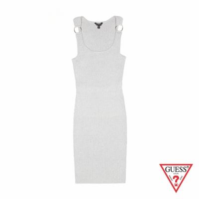 GUESS-女裝-修身無袖連身裙-灰