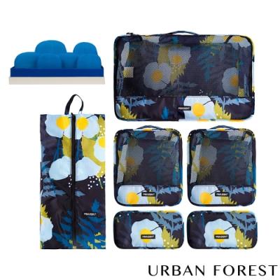 URBAN FOREST都市之森 樹-旅行收納袋6件組 (印花色)