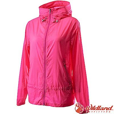 Wildland 荒野 0A62905-71粉紅色 女15D防潑水高透氣外套