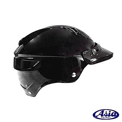 ASIA A-613四合扣半罩式安全帽(不含鏡片) 黑