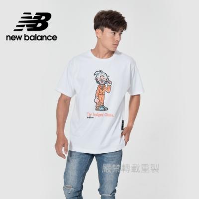 【New Balance】藝術家短袖上衣_男性_白色_AMT11521WT