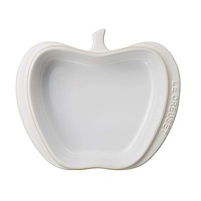LE CREUSET瓷器迷你蘋果造型烤盤(棉花白)