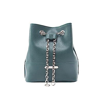 MIRYOKU 質感斜紋系列 / 經典鏈帶迷你水桶包(綠色)