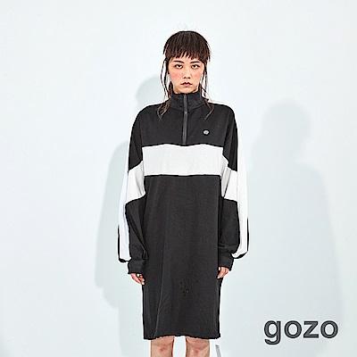 gozo 潮感線條高領運動風洋裝(二色)