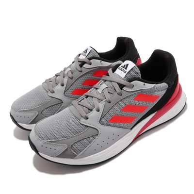 adidas 慢跑鞋 Response Run 運動 男鞋 海外限定 愛迪達 避震 包覆 球鞋 灰 紅 FY5956