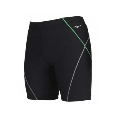 MIZUNO SWIM 男FITNESS五分泳褲-游泳 四角泳褲 美津濃 N2JB011593 黑綠白