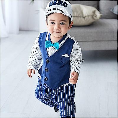 baby童衣 男寶寶長袖紳士連身衣 60174