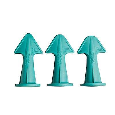 金德恩【台灣專利,台灣製造】DIY好用矽利康矽膠噴嘴刮刀頭(1盒3款)