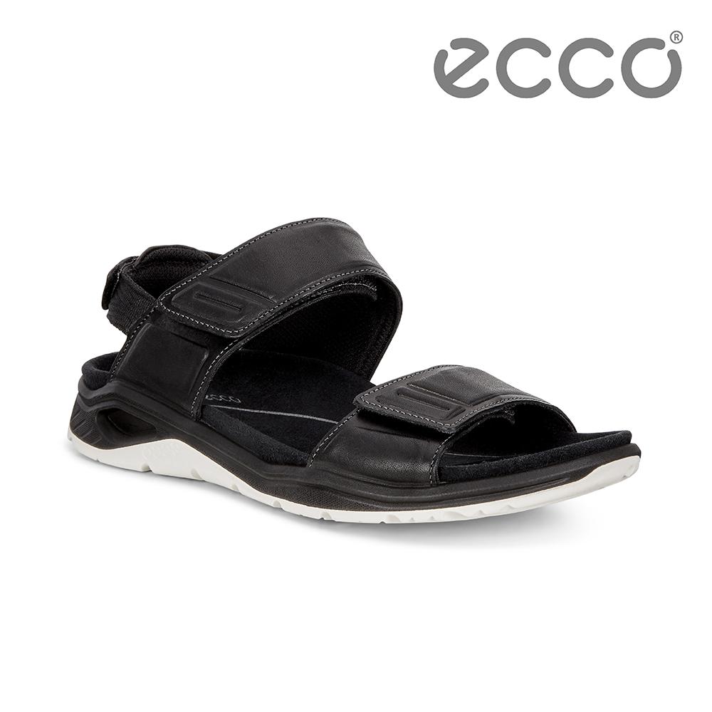 ECCO X-TRINSIC. 簡約單色戶外運動涼鞋 女-黑