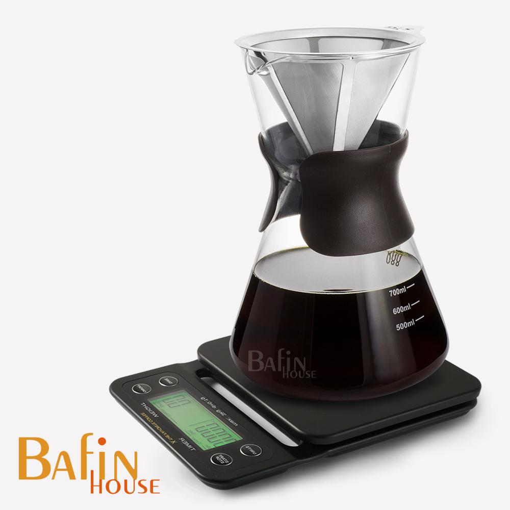 Bafin House 計時電子秤+syg 免濾紙手沖咖啡壺